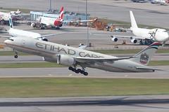 EY B77F A6-DDA @ EY9807 (EddieWongF14) Tags: etihadairwayscargo etihadairways boeing boeing777 boeing777f boeing777ffx b777 b777f b77l 777 77l 777f 777ffx a6dda freighter