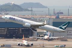CX B77W B-KQI @ CX846 (EddieWongF14) Tags: cathaypacificairways cathaypacific boeing boeing777 boeing777300er boeing777367er b777 b77w 777 77w 777300er 777367er bkqi oneworld