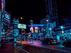 Dundas Square  #city #night #toronto #street #lights #urban #architecture #moody #canada #neon #people #car #cars (leejmcknight) Tags: city neon toronto night people cars urban canada car street moody lights architecture
