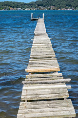 A wonky Woy Woy jetty. (Peter.Stokes) Tags: australia australian colour landscape landscapes nature outdoors photo photography sky vacations water woywoy jetty nsw newsouthwales