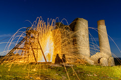 Magpie mine wool spinning 3 14.09.19 (Lee Myers - aka mido2k2) Tags: green light painting night astro stars mine magie bakewell flagg stone abandoned amazing fire sparks wire wool spinning long exposure luna twilight orange bright explosion eruption nikon tokina d7100 1116mm f28 iamnikon rural countryside stunning perspective wide angle lens