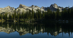 Wicca Lake (JeffAmantea) Tags: wicca lake devils range valhalla valhallas provincial park mountain mountains reflection water mirror panorama morning summer hike hiking camp camping peak outdoor outside explore adventure sony alpha sonyalpha a7ii emount mirrorless metabones nikon nikkor 50mm f14 landscape