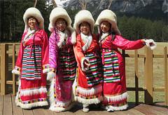 Tibetan Native Costume (Mary Faith.) Tags: native costume sichuanprovince china four ladies tibet lijiang