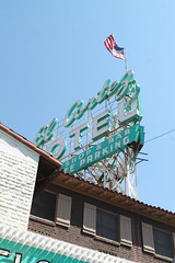 Old School (Flint Foto Factory) Tags: las vegas nevada henderson county urban city late summer september 2019 downtown vacation holiday fremont street elcortez resort hotel casino oldschool 600 efremontst fremontst classic vintage sign signage americanflag