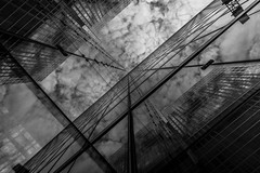 The house is glass (rainerralph) Tags: wideangle wolken facade weitwinkel fassade fe281635gm glasfassade sonyalpha schwarzweiss sony glassfacade blackandwhite a7r3 clouds