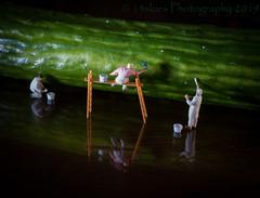 Getting It Right (SoS) (13skies) Tags: reflectiononblack painters reflection cucumber macro sos smileonsaturday close sonyalpha100 green mirror small tiny homodelrailroadfigures figures light sony black explore vegetable imagine