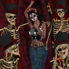 V-Twins - Sarandonga Blue / 7 Deadly s{k}ins - Juana Skull Candy (The Fair Around the World) (catsrage17) Tags: vtwins danu muse lelutka maitreya glamaffair 7deadlys{k}ins focusposes