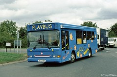 KF52NBY East Herts Community Playbus (theroumynante) Tags: kf52nby east herts community playbus dennis dart plaxton pointer south hatfield bus buses singledeck road transport lowfloor