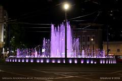 Slavija fountain 3 (srkirad) Tags: travel belgrade beograd serbia srbija fountain slavija sqaure roundabout night urban light city colorful vivid