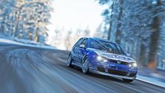 golf r32 10 (Keischa-Assili) Tags: vw golf r32 blue white snow winter forza horizon 4 4k uhd wallpaper screenshot photo rally car