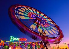 Oklahoma City State Fair (dyfuzor 1) Tags: statefair oklahomacity fujixe3 colour blue red yellow neon light sky fun