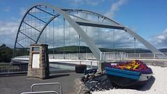 Bonar Bridge, Sutherland, July 2019 (allanmaciver) Tags: bonar bridge sutherland elegant steel monument boat colour flowers kyle allanmaciver