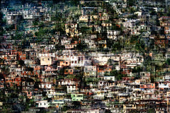 Overcrowded (HWHawerkamp) Tags: carribeansea martinique creativeedit cityscape village city house houses homes home clutter cluttered chaos chaotic blur blurry urban mountainvillage painterly texture doubleexposure multipleexposure crowded