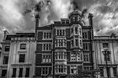 Notting hill!!! (mlk.dahoui) Tags: nottinghill houses window house clouds sky town city england street urban smart bw blackandwhite monochrome nikonflickraward d750 photography photographer picture great britain uk full frame travel trip holidays architecture uptown