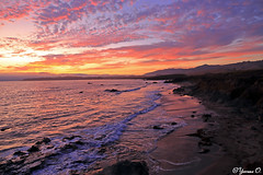 Beautiful California Sky (Yvonne Oelsner) Tags: sunset ocean sky waves cliffs beach landscape seascape nature clouds scenery california sansimeon highway1 roadtrip moody dawn