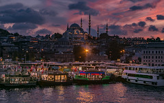 Old town of Istanbul (keremcruel) Tags: sunset nightshot landscape canon6d 6d 28135mm canon hdr nightscape longexposure oldtown turkey istanbul