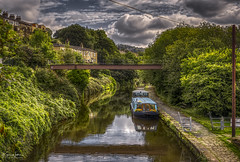 Canal Life (Kev Walker ¦ Thank You 4 Comments n Faves) Tags: england bridge yorkshire travel landscape outdoor valley summer sowerbybridge uk sowerby view background rural calderdale water town scenic field countryside sky farms westyorkshire panorama valleys orange norland tranquil terraced houses above high reservoir farmhouses farmland hills moor aerial blue pennines sunrise wetvale horizon mill west nature old green canal halifax