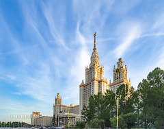 Moscow State University. Main Building     XOKA5909s (Phuketian.S) Tags: moscow downtown center capital russia city building kremlin redsquare walk street urban town cityscape landscape home house bridge sky river moskva ship church temple cathedral red cloud blue phuketian