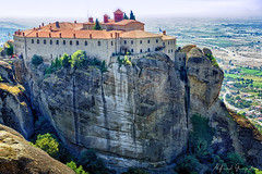 On The Rocks (Alfred Grupstra) Tags: famousplace mountain meteora fort outdoors architecture landscape history scenics rockobject nature cliff europe tower monastery castle travel hill tourism wallbuildingfeature