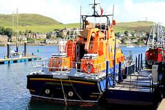 Lifeboat 17-19 'Ernest and Mary Shaw' (Dave Russell (1.5 million views thanks)) Tags: colour color orangeandblue rnli rnlb royal national lifeboat institution 1719 severn class ernest mary shaw boat ship vessel sar search rescue emergency 999 water marine maritime sea ocean harbour harbor port mooring campbeltown argyle bute knityre west western scotland ecosse outdoor photo photograph photography canon eos eos7d 7d