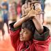 Bangladesh, street boy attends an afternoon class