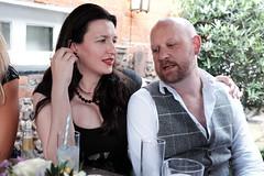 Martin and Gemma's wedding (Gary Kinsman) Tags: talking lavenham suffolk 2019 fujifilmx100t fujix100t wedding countryside friends availablelight ambientlight numbertenwinebarandkitchen weddingparty couple