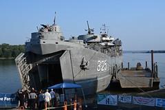 WWII Ship visits Aurora, Indiana (durand clark) Tags: indiana auroraindiana lst325 wwiilst landingshiptank usnavy navy nikonz6mirrorless nikon2470f4s ohioriver kentucky wwii koreanconflict vietmamwar