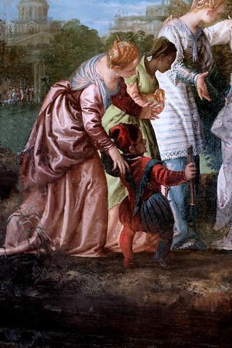 IMG_1203ED Véronèse (Paolo Caliari)  1526-1588 Venise Moïse sauvé des eaux. Moses saved from the waters Vers 1580 Dijon Musée des Beaux Arts.  Collection de Louis XIV