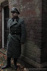German Officer (Wartime Productions) Tags: wartime german ww2 living history group hurricane actor spotlight filming television model walk on supporting artist extra film tv movie body double skill stand in assistant director runner ad picture uniform uniforms period clothing hire utility casting reconstruction documentary greatcoat civilian kubelwagen vehicles wwii