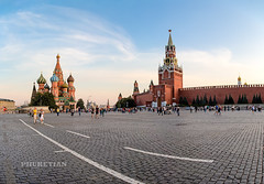 Kremlin_Red Square_Panorama1-s (Phuketian.S) Tags: moscow downtown center capital russia city building kremlin redsquare walk street urban town cityscape landscape home house bridge sky river moskva ship church temple cathedral red cloud blue phuketian