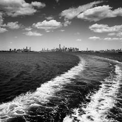 ferry tale (m_laRs_k) Tags: usa nyc square bw travel blackandwhite manhattan newjersey newyorkcity bigapple olympus sky skyline clouds noir omd 1240 statenislandferry mlarsk