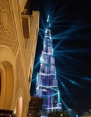 Burj Khalifa at night 2 (tom_2014) Tags: burj burjkhalifa khalifa arab arabian arabia dubai middleeast unitedarabemirates uae travel famous landmark tall tower tourism light lightshow ray desert asia asian night iconic architecture building modernarchitecture city