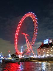 London Eye (surreyblonde) Tags: londonskyline river riverthames architecture building water tidal london eye cocacola southbank bankside countyhall ferriswheel lumination illumination waterloo canon g15 londoneye