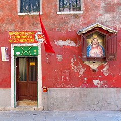 Jesus was the first communist (mikael_on_flickr) Tags: firstcommunist jesus gesù communist communism venezia cenedig venice arsenale red rosso rot rouge