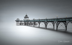 Clevedon Pier (Nathan J Hammonds) Tags: minimal simple photography long exposure mono colour nd filters lee filter nikon d850 water coast uk victorian architecture delicate