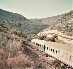Israel Railways - Israel State Railways passenger train on the way to Jerusalem in 1955 (HISTORICAL RAILWAY IMAGES) Tags: israel railways train isr רכבת ישראל coach orenstein koppel jerusalem grcw