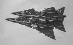Farnborough Airshow (PJD_Photos) Tags: aircraft farnborough airshow saab scanned slides viggen saabviggen