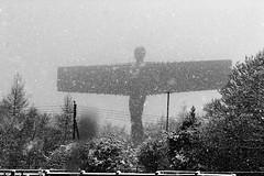 Angel Of The North (phillmackenzie) Tags: landmark newcastle statue winter snow landscape