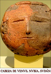 Cabeza de Venus, arcilla, 2300-1600 a.C., Argín (Nubia, Sudán),