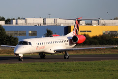 G-SAJI_01 (GH@BHD) Tags: gsaji embraer erj145 erj145ep lc lm log loganair belfastcityairport bhd egac regionaljet aircraft aviation airliner