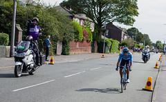 Andrey Amador (PaulEBennett) Tags: cyclist tourofbritain andreyamador bolton blackandwhite