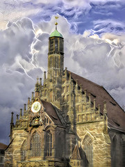 Electrical Storm (Eclectic Jack) Tags: ddg generator dream deep processing processed process post manipulated exterior church weather lightening germany nuremberg sunday sliders hss