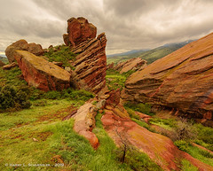 Cloudy Day At Red Rocks, Morrison, CO (HarrySchue) Tags: landscape colorado hiking redrocks rockymountains clouds nikon reallyrightstuff fotodiox d800e
