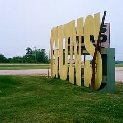 Mountain Grove, Missouri. 6.3.19. (B-Side Americana) Tags: cringe murka bsideamericana guntoting redneckmilitia signs typography roadside roadtrip missouri mo americana americanroadside cringeamericana musket danwatsonphotography yashicamat124g yashicamat124 yashicamat yashicatlr tlr twinlensreflex portra160 portra 120film film analog analogue square southappalachianroadtripof2019 sart19 wellregulatedmilitia democraticforest newtopographics filmphotography filmphotos analogphotography analogphotos justhowthefoundersintended heartland trumpcountry largestusconstitution whatdickhellerthinksfreedommeans