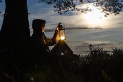 With a lantern in moonlight (VisitLakeland) Tags: finland lakeland autumn forest kynttilä lake lantern luonto lyhty maisema metsä nature night outdoor scenery syksy yö