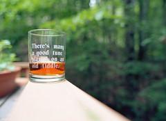Sherry on the Deck (Fiddling Bob) Tags: film mediumformat glass sherry deck ektar120formatfilm pentax645