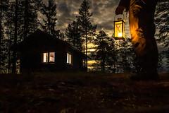 Forest cabin night scene (VisitLakeland) Tags: finland lakeland autumn forest kynttilä lake lantern luonto lyhty maisema metsä nature night outdoor scenery syksy yö