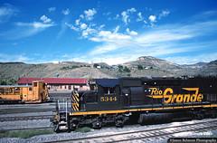 Let's Do the Time Warp Again (jamesbelmont) Tags: riogrande drgw helper utah train railroad railway locomotive snowdozer tunnelmotor emd sd40t2 depot yard