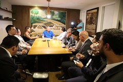 14.09.2019 Prefeito Arthur Neto recebe o presidente da caixa econômica federal Pedro Guimarães