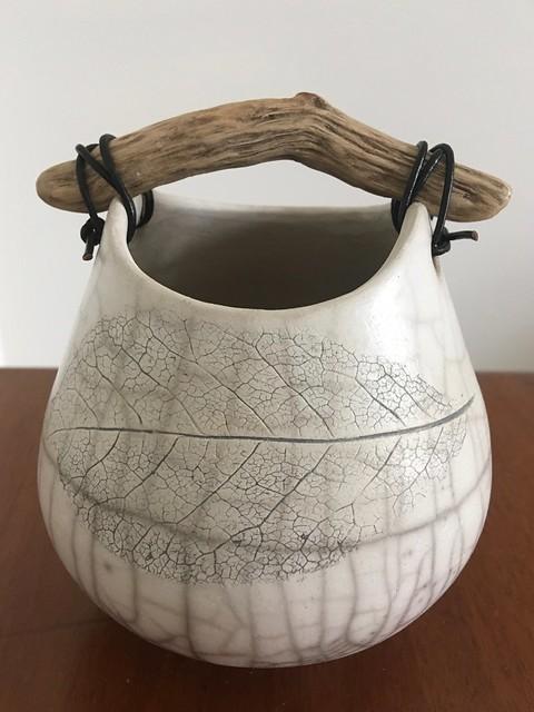 Morrison Anne 'Leaf Raku Pot'